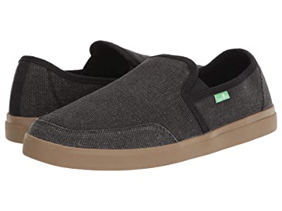 Sanuk Vagabond Slip-On Sneaker (Black/Gum) Men