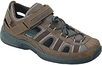 Orthofeet Plantar Fasciitis Pain Relief. Extended Widths. Arch Support Orthopedic Diabetic Men's Sandals Clearwater