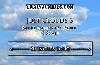 Train Junkies Just Clouds III- Model Railroad Backdrop in N Scale