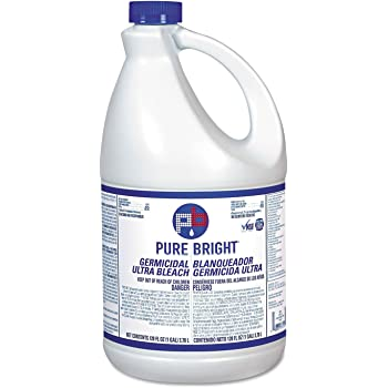 Pure Bright BLEACH6 Liquid Bleach, 1gal Bottle, 6/Carton