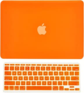 orange color laptop