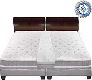 IMPROVED DESIGN SELF-INFLATING Foam Bed Bridge for small gaps, Precision Fill System, Wide Cover and Gap Fill Support, Connect Two Single Beds Into One King Size, Patent Pending