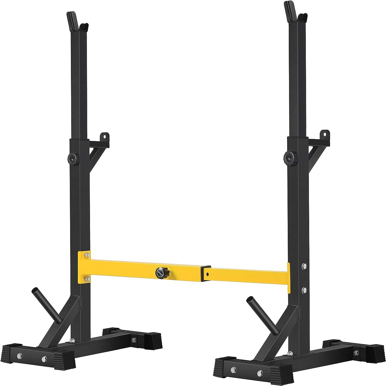 BangTong&Li Squat Rack Stand,Barbell Rack,Bench Press Rack Stand Home Gym Adjustable Weight Rack 550Lbs