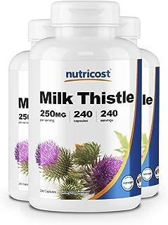 Nutricost Milk Thistle 250mg, 240 Capsules (3 Bottles)