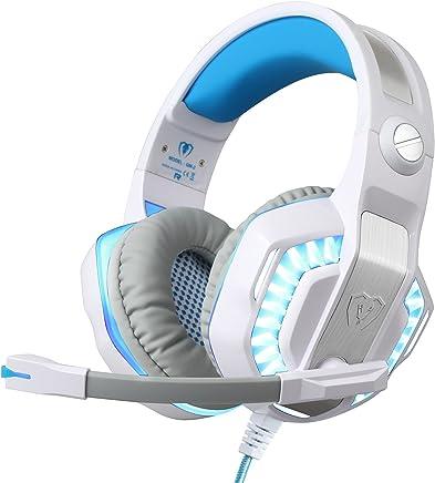 BlueFire Cuffie Gaming per PS4 / Xbox One/Xbox One S, Cuffie da Gioco con 3.5mm Jack LED e Microfono,Bass Stereo Audio Surround Cuffie da Gaming per iPhone/iPad/Android Phone/PC(Bianco) - Trova i prezzi più bassi