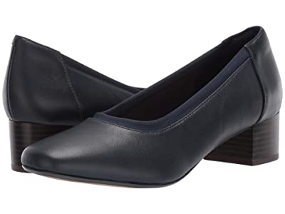 Clarks Chartli Fame (Navy Leather) Women