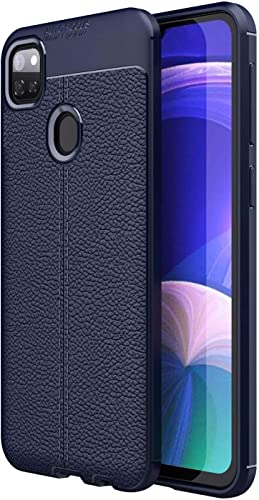 Jotech Leather Textured Autofocus Soft Back Case Cover for Realme Narzo 20 Blue