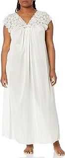 Shadowline Women's Plus-Size Silhouette 53 Inch Short Cap Sleeve Long Gown