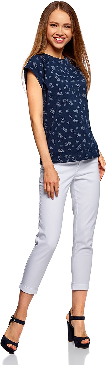 oodji Ultra Donna T-Shirt in Cotone Stampato