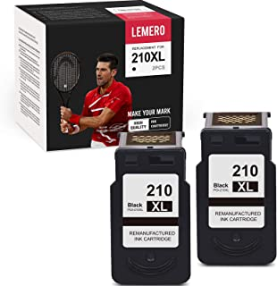 LEMERO Remanufactured Ink Cartridge Replacement for Canon 210XL PG-210XL PG 210 XL for PIXMA MP459 MP240 MX410 MP280 IP270...