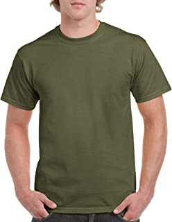 heather green color shirt