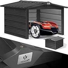 KESSER® Mähroboter Garage mit Satteldach Dach Carport Überdachung für Mähroboter..