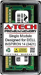 A-Tech 4GB RAM for DELL INSPIRON 14 (3421) | DDR3 1600MHz SODIMM PC3-12800 204-Pin Non-ECC Memory Upgrade Module