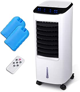 Yescom Evaporative Air Cooler Portable Air Conditioner Fan Air Humidifier with Remote Control 7 L Water Tank 65W 3 Speed S...