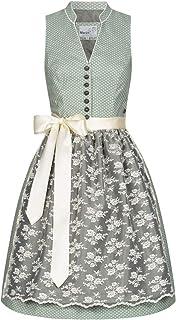 MarJo Trachten Damen Trachten-Mode Midi Dirndl Debina in Grün traditionell