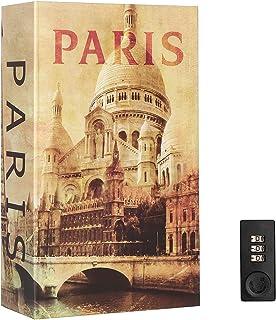 Book Safe with Combination Lock, Lovndi Hidden Safe Secret Storage, Diversion Safe Lock Box for Cash Jewelry, Paris