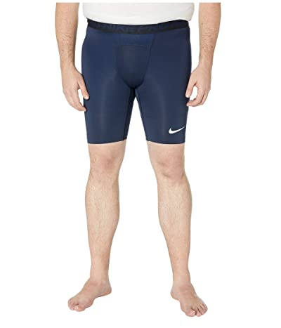 Nike Big Tall Pro Shorts (Obsidian/White/White) Men
