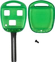 QualityKeylessPlus Green Replacement RHK Case 3 Button High Security Blade Remote Key Fob FCC ID HYQ12BBT FREE KEYTAG