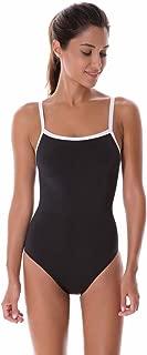 Women's Sleek Solid Elite Training Sport Athletic One Piece Swimsuit