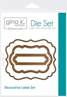 Gina K. Designs for Therm O Web 3 Nested Decorative Label Dies