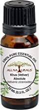 ALL NATURALS Khus Absolute (Vetiver) Essential Oil 100% Pure for Aromatherapy, Natural Perfumes & Romance from kerala(10ml)