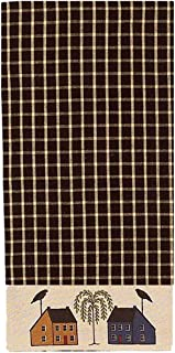Home Collection by Raghu Saltbox Houses Willow Nutmeg Towel, 18 x 28