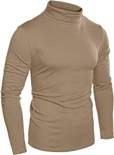 Men's Slim Fit Basic Thermal Turtleneck T Shirts Casual Cotton Knitted Pullover Sweaters
