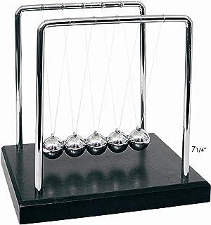 "PowerTRC Newtons Cradle Balance Balls 7 1/4"" | Science Physics Gadget | Desk Toys & Accessories"