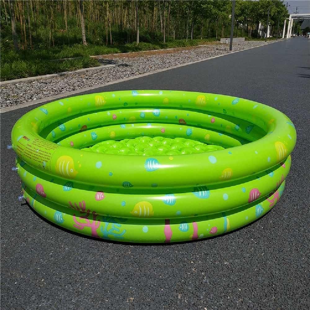N\C Tres anillos Ocean Ball Piscina Infantil Piscina Infantil Al Aire Libre Inflable Pesca Estanque Verde