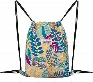 LIVACASA gymväska dragväska innerficka med dragkedja ficka sportresväska vattentät lätt ryggsäck män och kvinnor