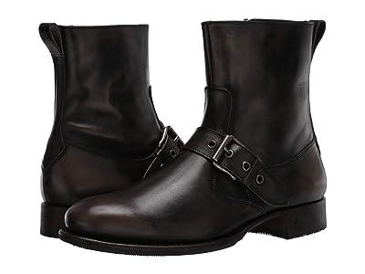 John Varvatos Collection Essex Artisan Buckle Boot (Charcoal) Men