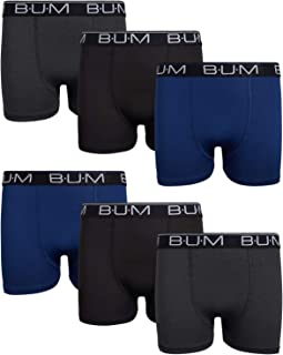 B.U.M. Equipment Boy`s Performance Dry-Fit Compression Boxer Briefs (6 Pack)