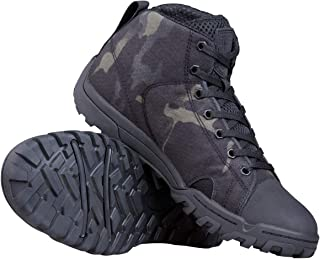 Men's Tactical Boots Ankle Boots Lightweight Breathable Military Boots Strong Grip Camo Combat Boots for Work