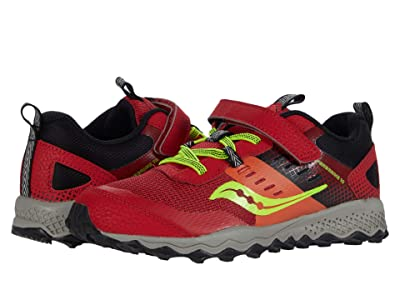 Saucony Kids S-Peregrine 10 Shield A/C (Little Kid/Big Kid) (Red) Boys Shoes