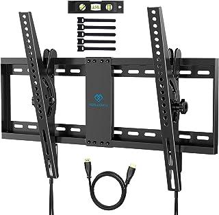 Support Mural TV Inclinable pour la Plupart des téléviseurs Plats & incurvés LCD, OLED et de 37-70 Pouces - Support TV ave...