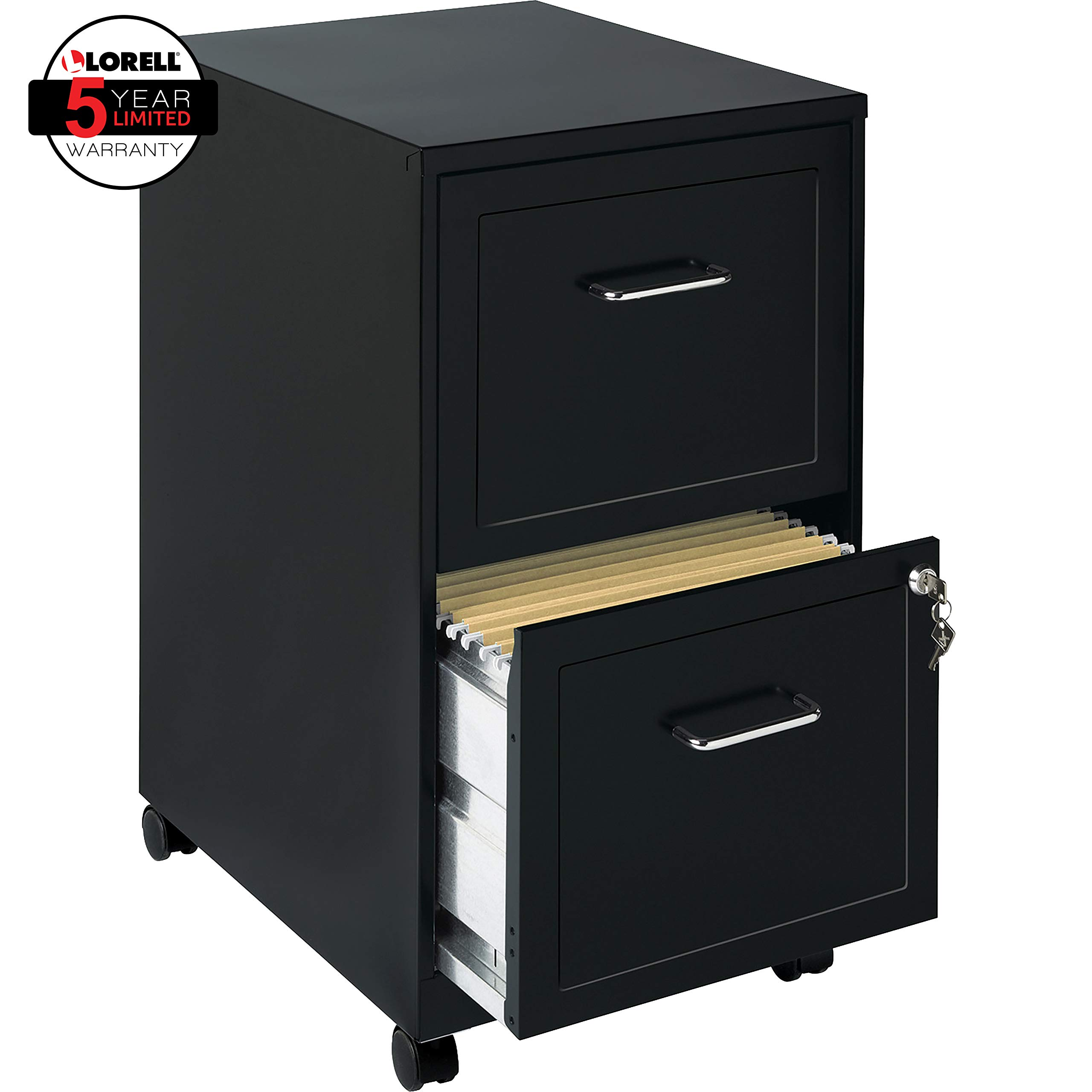 Lorell 2 Drawer Mobile Cabinet 18 Inch