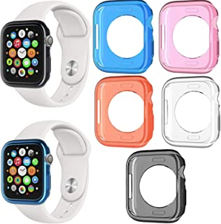 38mm Tech Ex Rainbow Ombre Plus Clear Full Body Protection Screen Protector Cover Compatible with Apple iWatch 2 Pack Case