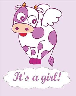 JINTORA Etiqueta para el Coche/Etiqueta engomada - para bebés y niños - La Vaca es un Dios - 125x99 mm - para Autos, Paredes, Libros