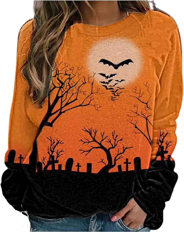 Women Halloween Long Beach Superior Mall Sleeve Sweatshirt Vintage Loos Graphic Tees