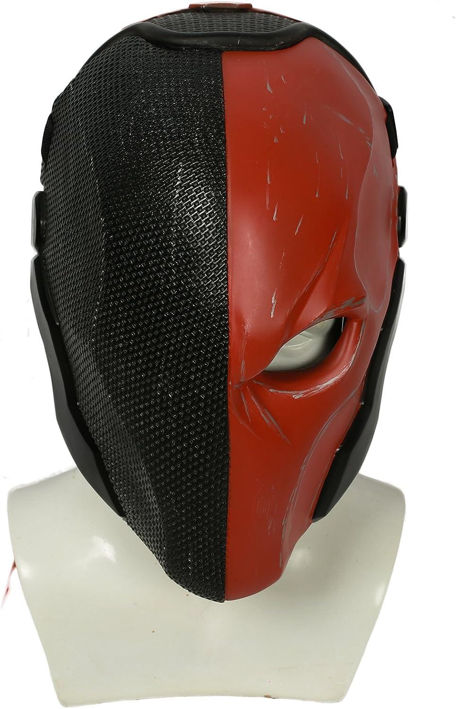 Xcoser Halloween Helm Spiel Arkham Cosplay Kostüm Harz Maske für Herren Kleidung Merchandise Zubehr (schwarz rot)