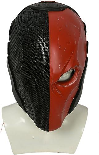 Xcoser Halloween Helm Spiel Arkham Cosplay Kostüm Harz Maske für Herren Kleidung Merchandise Zubeh (schwarz rot)