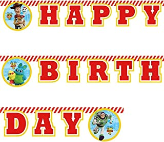 Girls Boys Birthday Party Banner Disney Toy Story Woody Buzz Lightyear Decorations Tableware Accessories (Banner)
