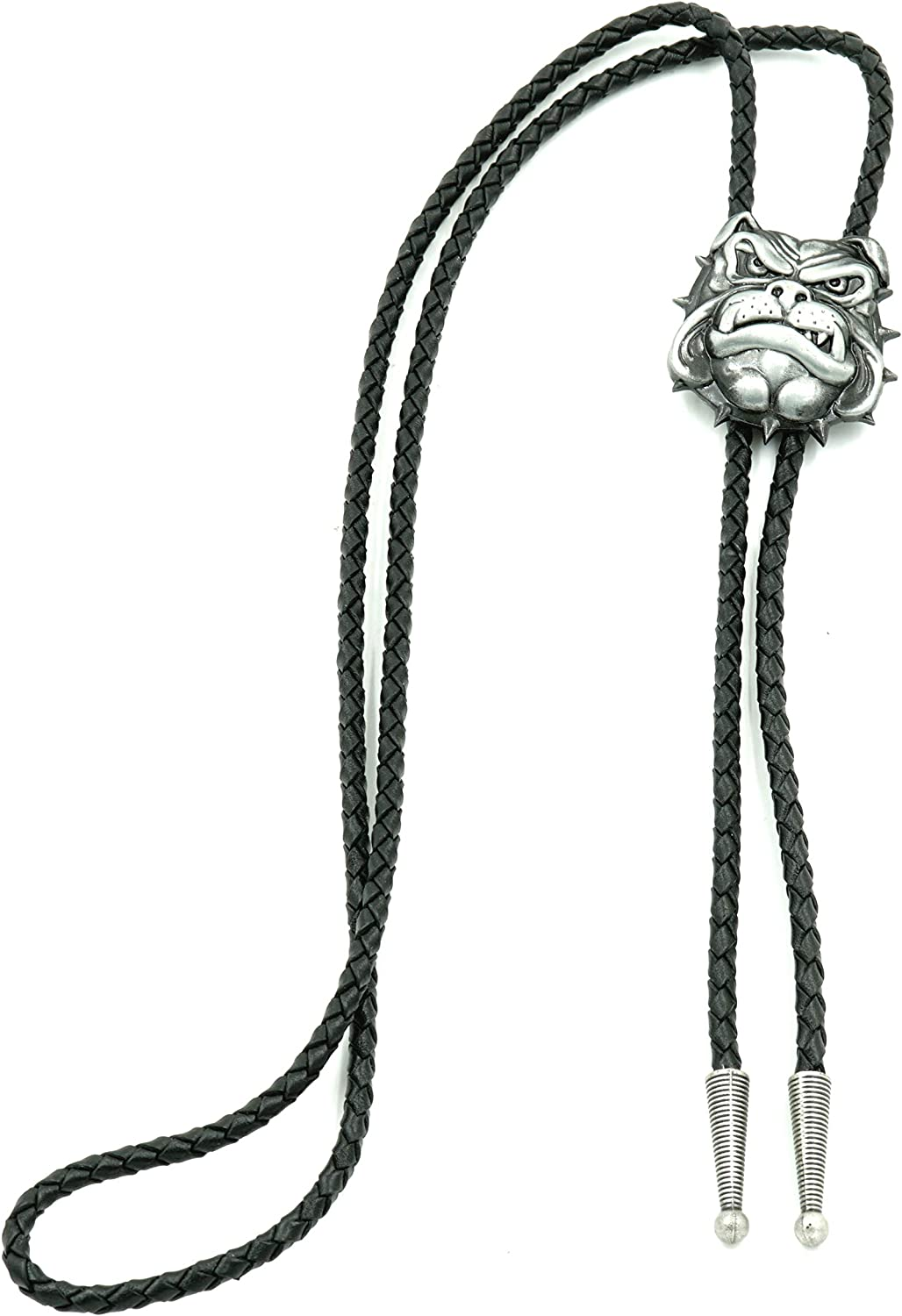 British Bull Cheap All items free shipping super special price Dog Head Western Leather Tie Bolo Neck