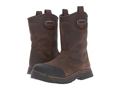 Dr. Martens Work Rush Electrical Hazard Waterproof Composite Toe Rigger Boot (Brown Crisscross Waterproof) Men