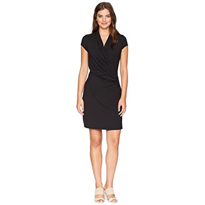 Tommy Bahama Island Cool Cap Sleeve Dress (Black) Women