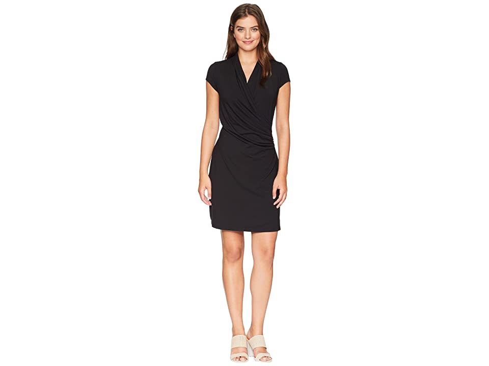 Tommy Bahama Island Cool Cap Sleeve Dress (Black) Women