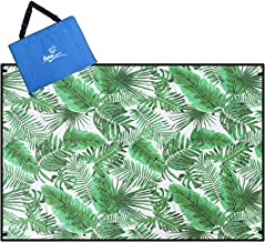 Picnic Blanket Water Resistant, Beach Blanket Sand Proof, Wind Proof with Stakes,Machine Washable Outdoor Blanket Mat