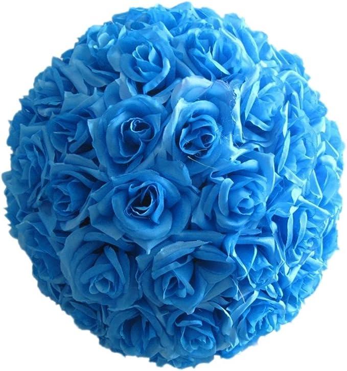 AM/_ 8 Inch Wedding Artificial Rose Silk Flower Ball Decoration Centerpiece Peach