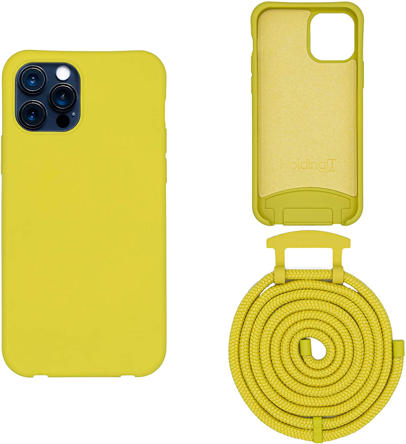 HoldingIT Crossbody Phone Case with Detachable Lanyard Compatible with iPhone X/XS, XS Max, XR, 2-in-1 Hands Free iPhone Cover with Drop Protection, Adjustable Rope