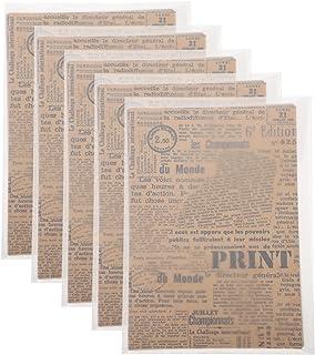 Artibetter 5 Ensembles Indésirable Journal Pages Vintage Kraft Papier DIY Scrapbook Matériel Papier Décoratif Album Papier...